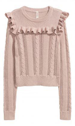 Maglione da donna rosa H&M | Stile Stranger Things: il freddo secondo Nancy | A Gipsy in the Kitchen
