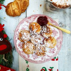Aebleskivers e panna montata al cardamomo. | A Gipsy in the Kitchen