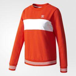 Adidas felpa donna rossa Originals estate 2017