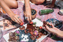 Dettaglio di picnic estivo boho tumblr
