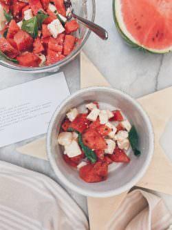 Insalata di anguria, feta e basilico | A Gipsy in the Kitchen