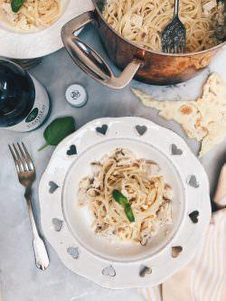 Fettuccine allo spada con crumble di carasau   A Gipsy in the Kitchen