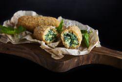 Obica - Crocchette di Patate e Cime di Rapa - Credit Tim Atkins   La delicatezza del rituale mozzarella: Obicà   A Gipsy in the kitchen